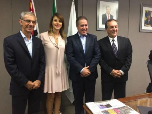 Com Davi Zaia, o prefeito Jonas Donizette e o vereador Luiz Rossini.