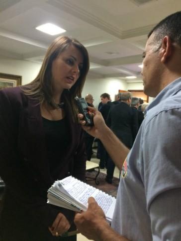 Entrevista para a rádio Transamérica de Nova Trento