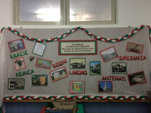 Pesquisa feita pelos alunos sobre a imigração italiana na região