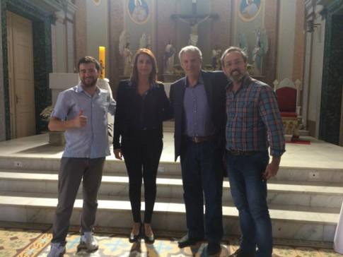 Urussanga: com Leandro Damasio, Prefeito Cancellier e Paulo Savio, Diretor de Cultura do Município