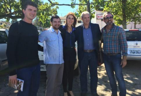 Urussanga: com Fernando Fontanella, da Associazione Bellunesi di Urussanga Leandro Damasio, prefeito Cancellier e Paulo Savio
