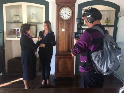 Museu Anita Garibaldi e a Casa de Anita, em entrevista para a irmã Myrian Castelli, do programa Cristianità (Rai International)