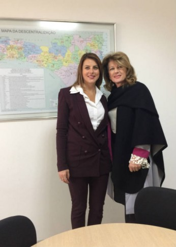 Em São Joaquim, com a Secretária de Desenvolvimento Regional do Estado de Santa Catarina, Solange Pagan
