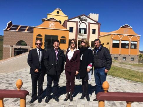 Com o correspondente Durigon, o Prefeito Nunes, a Secretária Pagani e o vereador Clodoaldo