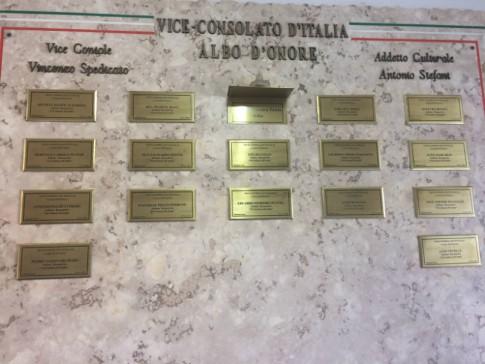 Quadro de Honra do Vice-Consulado de Ribeirão Preto